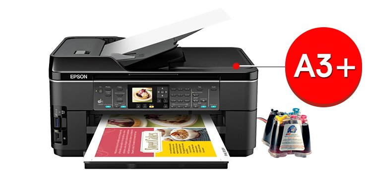 МФУ Epson WorkForce WF-7510 с системой НПЧ