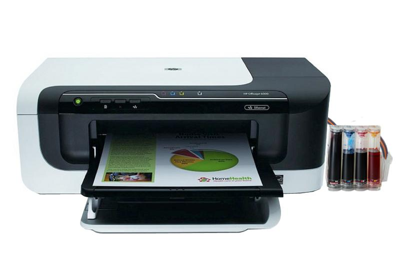 Принтер HP OfficeJet 6000 с системой НПЧ