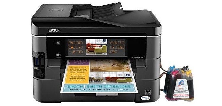 Epson WorkForce 845 с СНПЧ картинка